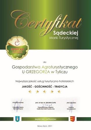 Agroturystyka z certyfikatem
