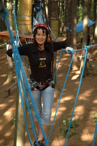 Park linowy w Kudowie Zdrój - aktywny wypoczynek dla dzieci i rodziców