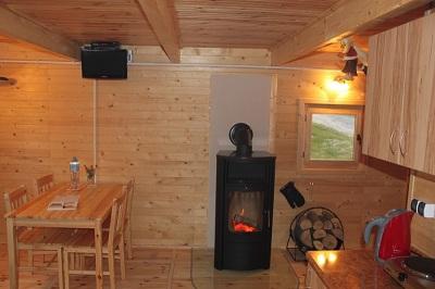 Domek z sauną i kominkiem na Sylwestra