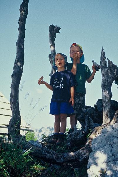 Dzieci w Tatrach