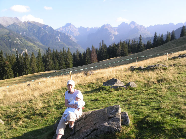 Z niemowlakiem w górach - mała Gabrysia