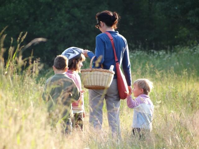 Z dziecmi w Beskid Niski
