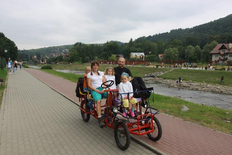 Rodzinny rower w Pieninach