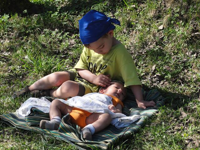 Wspólne wakacje w górach - dzieci