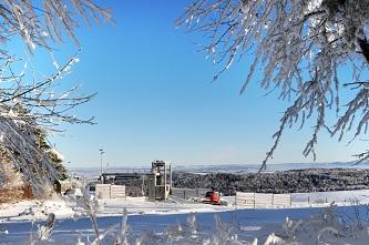 Górna stacja wyciągu narciarskiego KiczeraSki